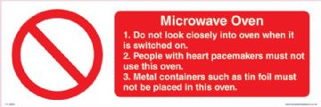 Microwave oven Guide lines for safe use